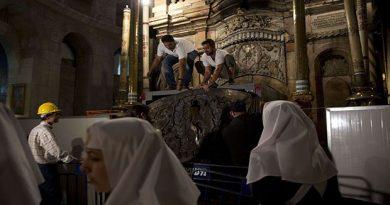 La rénovation du tombeau de Jésus a été amorcée