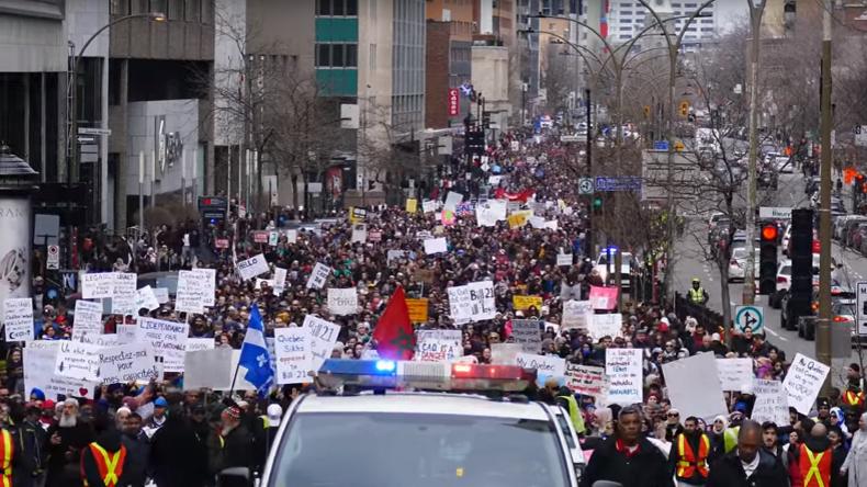 © Capture d'écran YouTube «Life is beautiful - La vie est belle» Dans les rues de Montréal le 7 avril 2019.